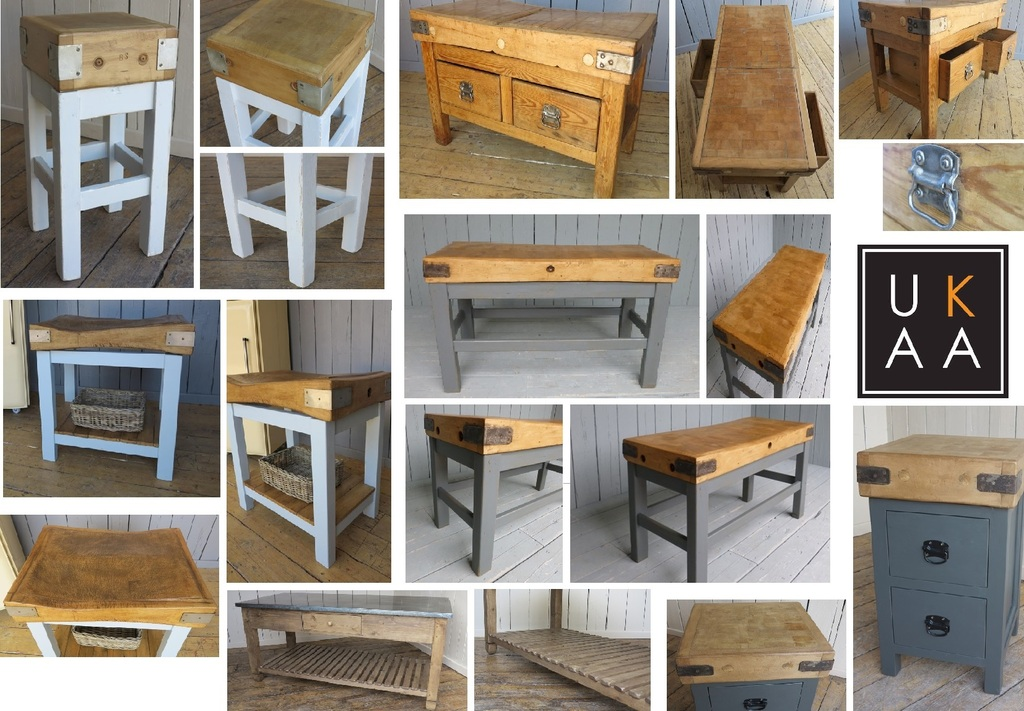 Antique Butcher Block Available to Buy at UKAA