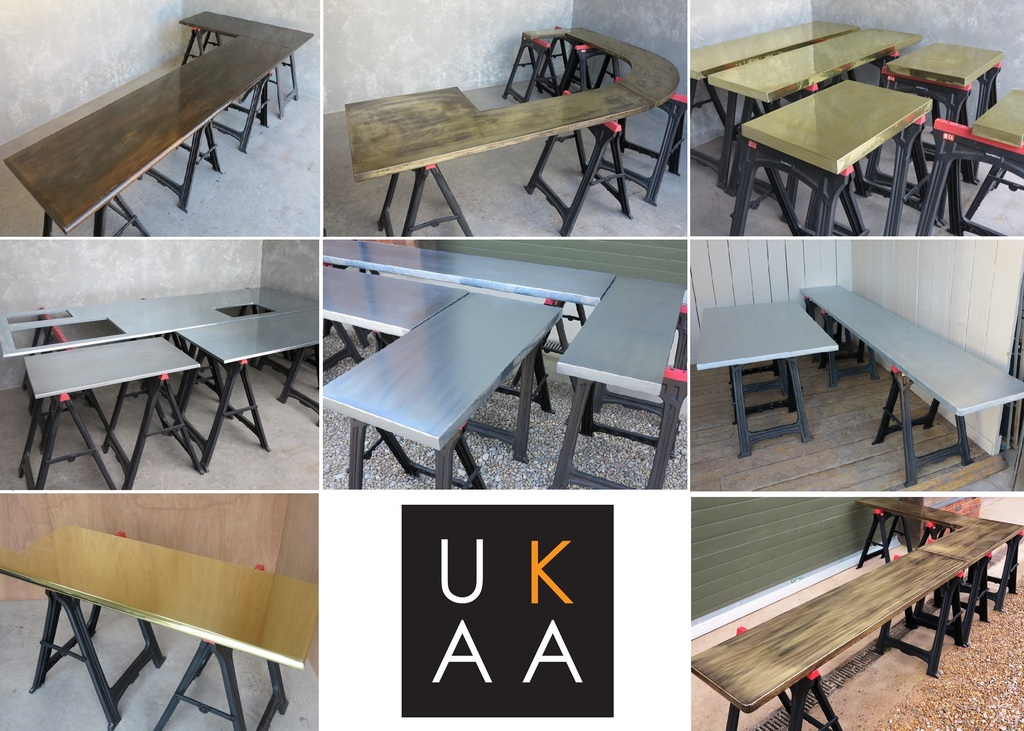 Metal Kitchen Worktop Available at UKAA