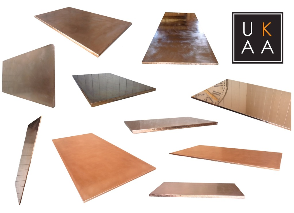 Copper Kitchen Worktops available at UKAA