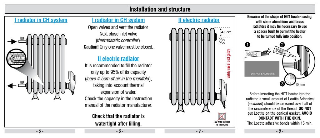 How to Fit an Electric Element to a Cast Iron Radiator Fitting Instructions are Ideal to Use to Convert New and Old Cast Iron Radiators to Electric