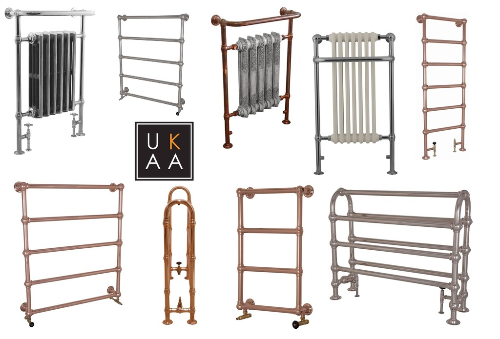 Traditional Heated Towel Radiators available to view at UKAA