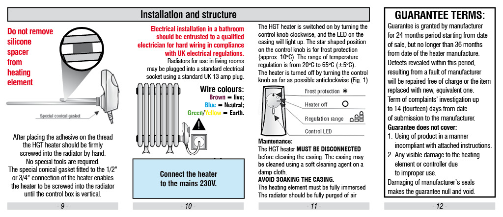 Instructions on How to Fit an Electric Element to Old metal Radiators or New Radiators to Make an Electric Radiator Suitable for Period Homes
