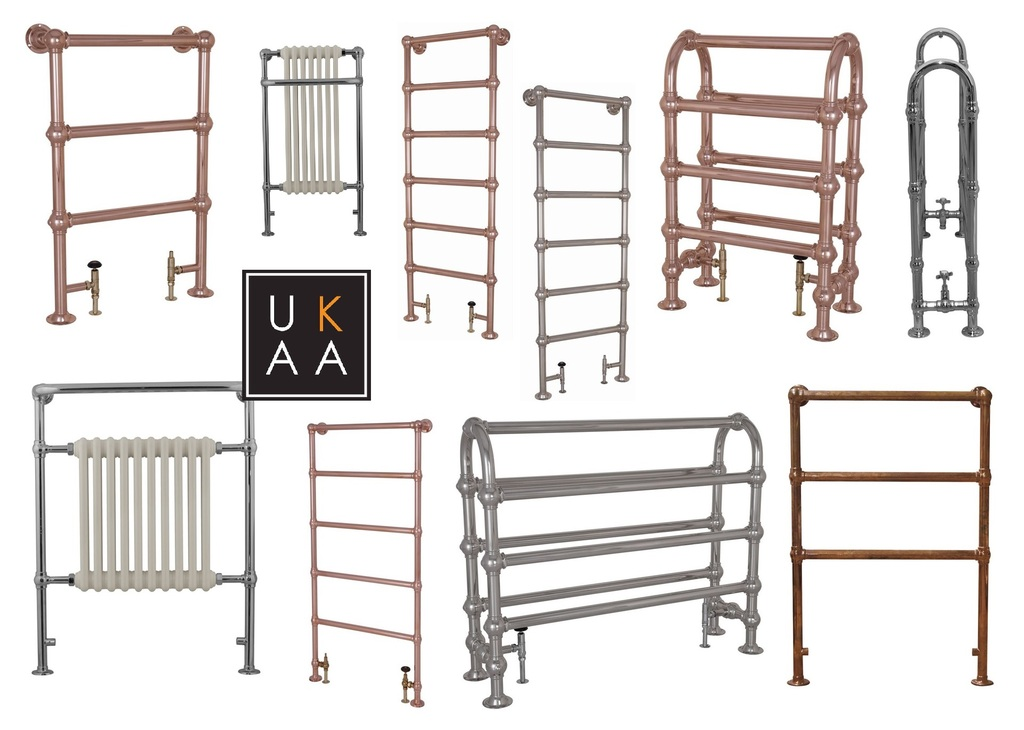 Traditional Electric Towel Rails in Stock at UK Architectural Antiques