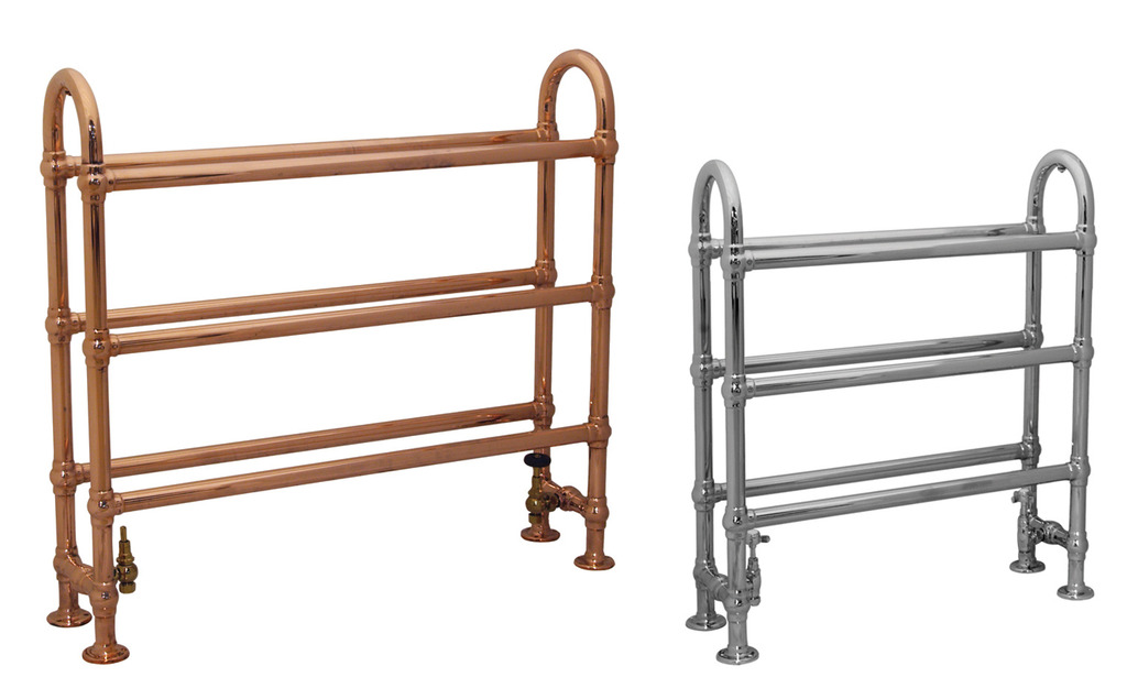 Copper And Chrome Carron Ermine Towel Warmers Are Available For A Next Day Delivery