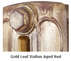 Carron Specialised Gold Leaf Italian Aged Red Finish For Traditional Cast Iron Radiators