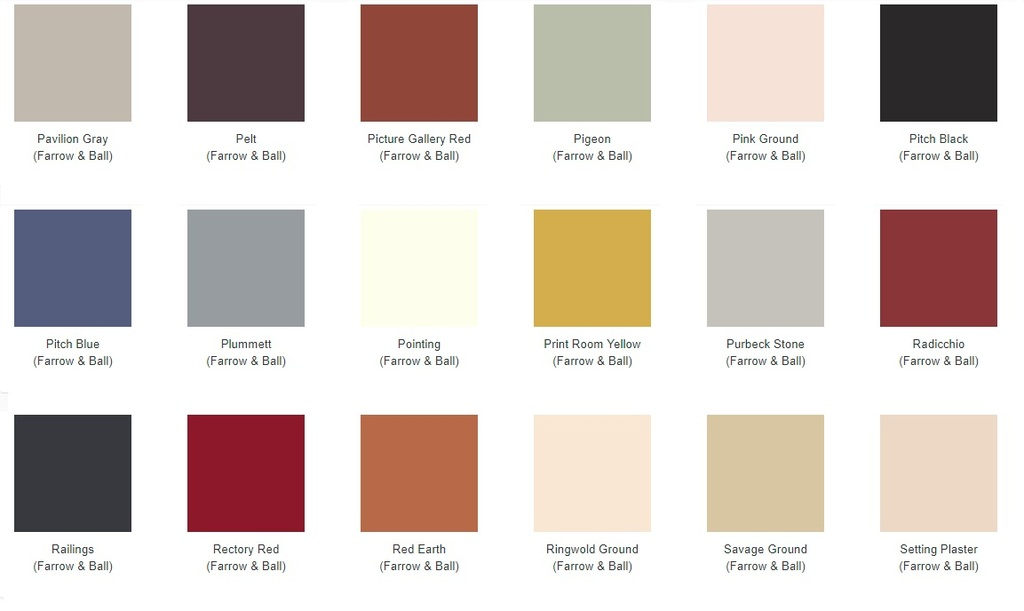 Pick From the Farrow and Ball Colour Chart to Choose Your Paint Finish for Carron Radiators