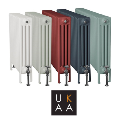 View and Buy Enderby 4 Column Steel Radiators In Horizontal and Vertical Designs Similar Style to Cast Iron Radiators Can be Purchased At UKAA