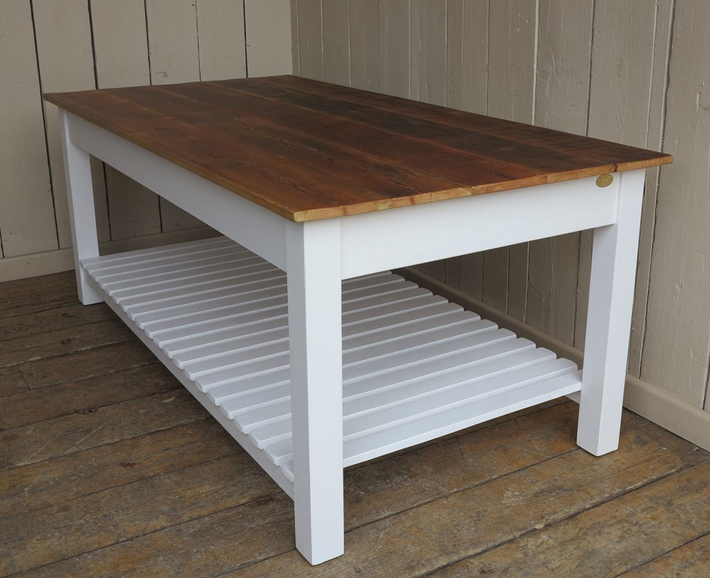 At UKAA we bespoke make original farmhouse style floorboard top tables made to our customer's specifications