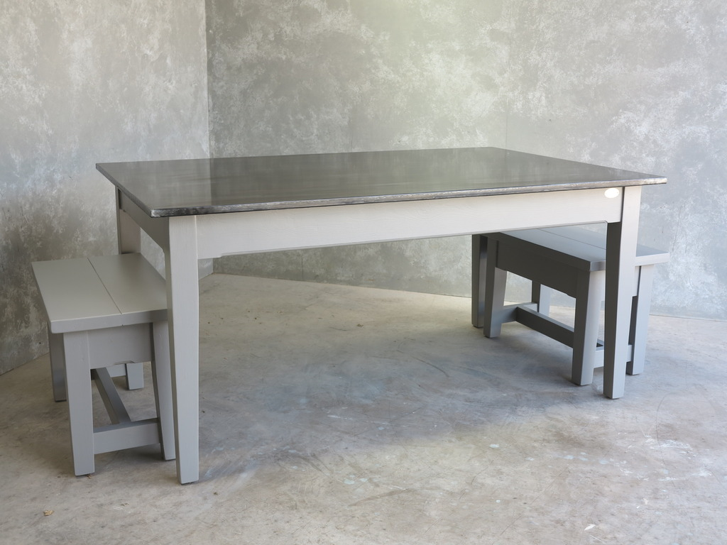 At UKAA we bespoke make metal top tables using solid zinc, copper or brass all to our customers specific requirements
