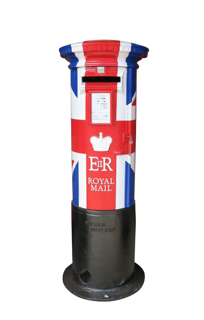 UKAA have in stock a unique limited edition ER11 pillar box hand finished in the Union Jack Style. This item can be delivered worldwide.