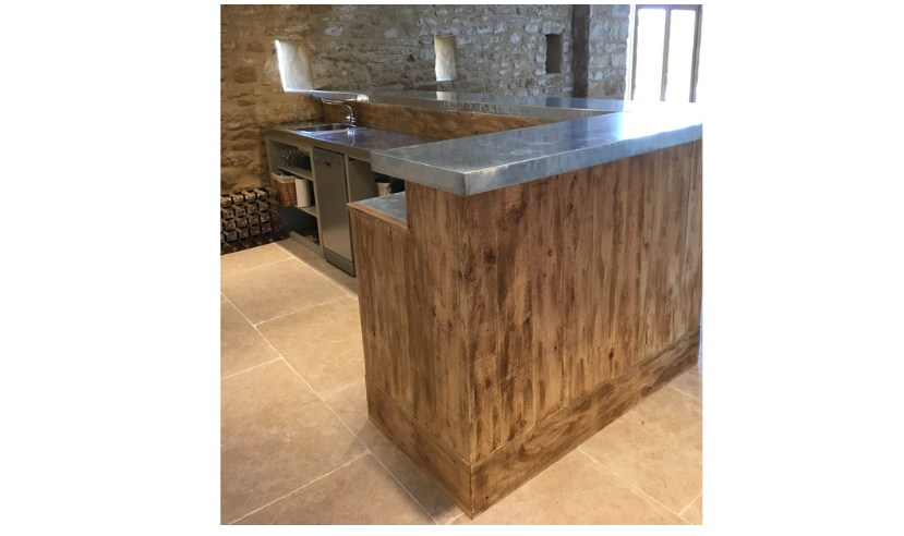 At UKAA we bespoke make kitchen worktops to your custom design using brass, copper or Zinc.