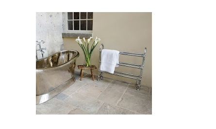 UKAA supply Victorian style Carron heated towel rails in a variety of styles and finishes such as copper, nickel and chrome