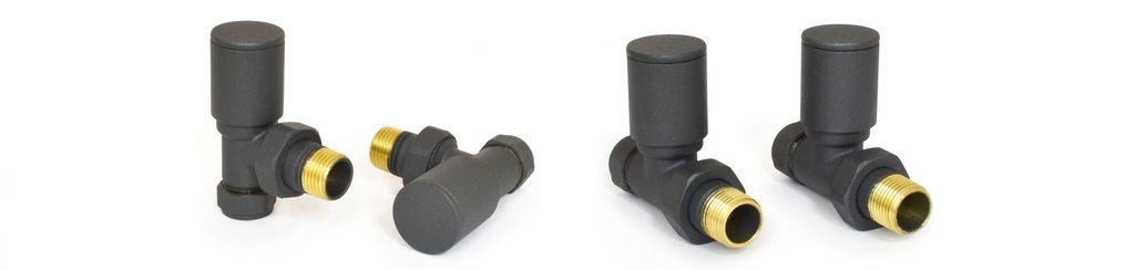 View and Buy Anthracite Radiator Valves For New Modern Radiators and Traditional Cast Radiators and Towel Rails