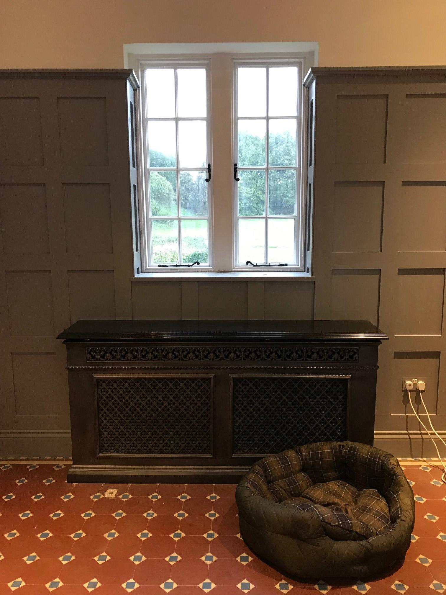 Carron cast iron radiator covers available at UKAA. Traditional cast iron radiator covers fitted in a Victorian property. Victorian style radiator covers. Buy online