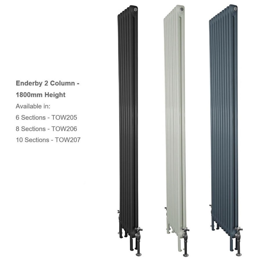 Buy Enderby 2 Column Tall Steel Radiators at UKAA