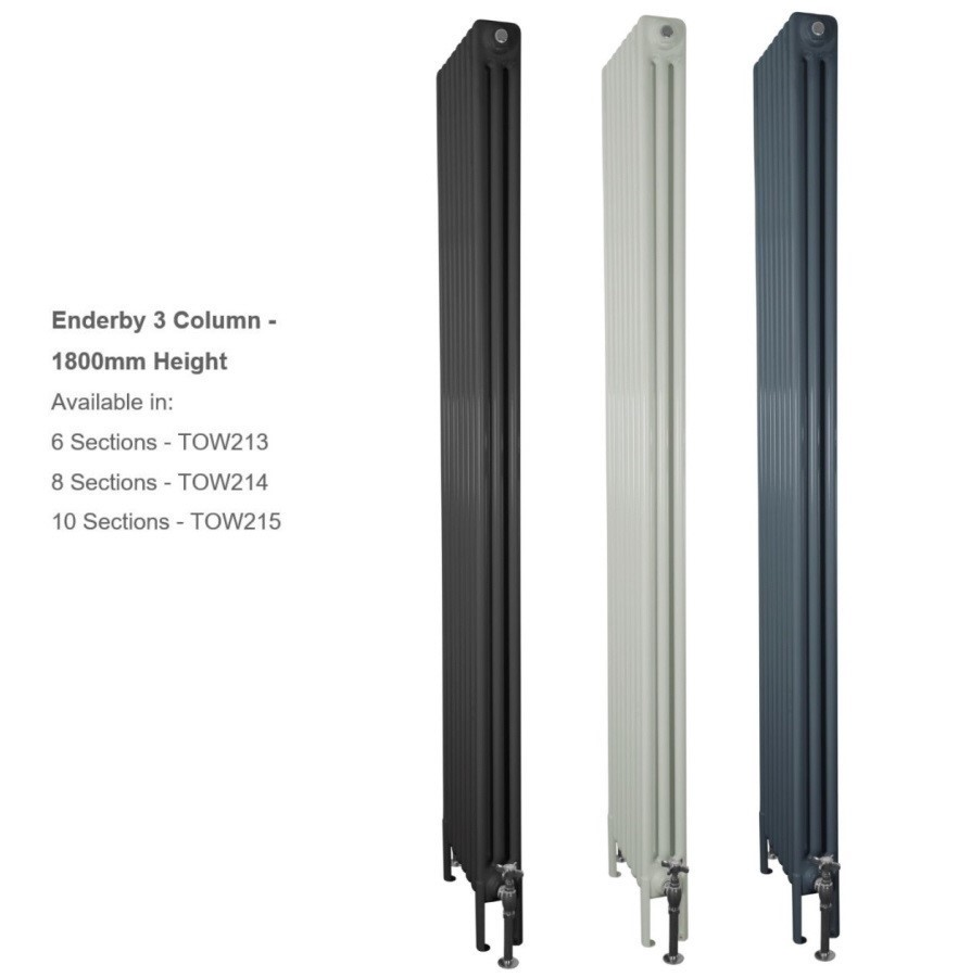 Buy Tall Enderby 2 Column Steel Radiators