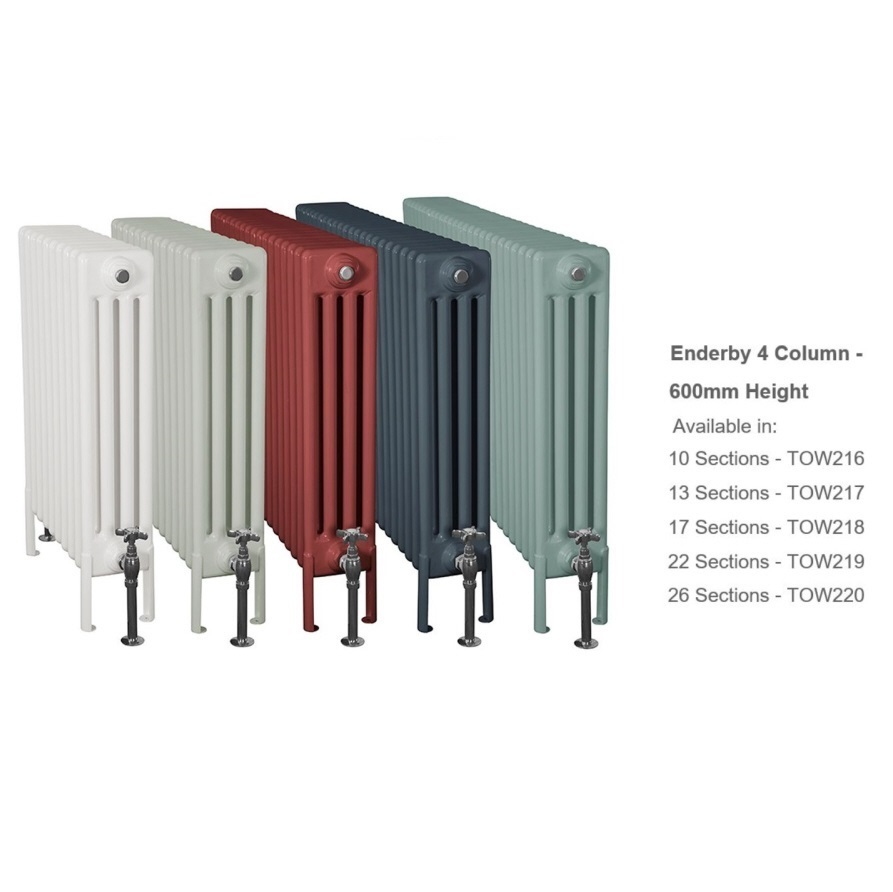 Buy Tall Enderby 4 Column Steel Radiators