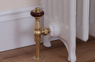 Buy Cast iron radiator valves From UKAA. Traditional Manual and thermostatic valves in chrome, brass, satin nickel and copper can be delivered worldwide