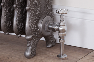 View and buy cast iron radiator valves at UKAA. Traditional manual and thermostatic valves suitable for old Victorian cast iron and metal radiators