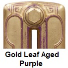 Radiator finishes: Gold Leaf Aged Purple
