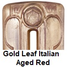 Radiator finishes: Gold Leaf Italian Aged Red