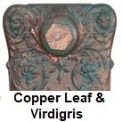Radiator finishes: Copper Verdigris