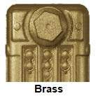 Brass Finish Carron radiator