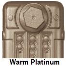 Painted radiator in Warm Platinum