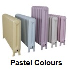 Carron Radiators Can be Painted in Pastel Colours such as pinks, greens and Blues